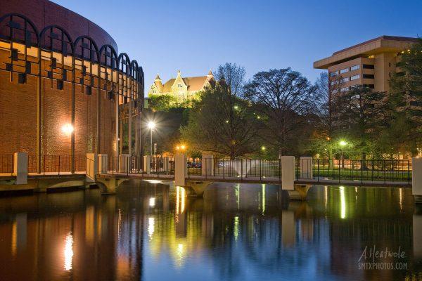 Texas State University at Night