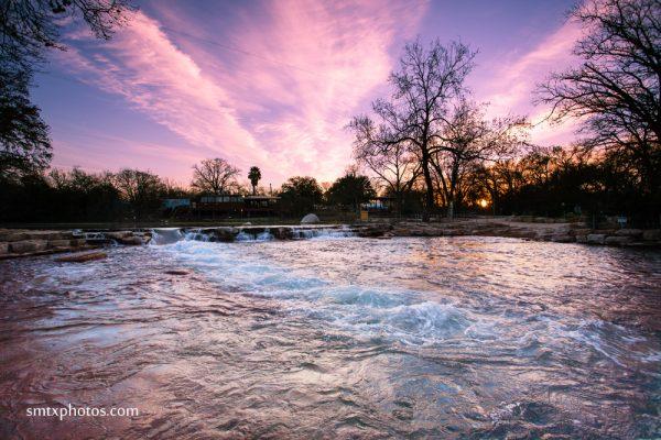 Sunrise at Rio Vista Park in San Marcos, TX
