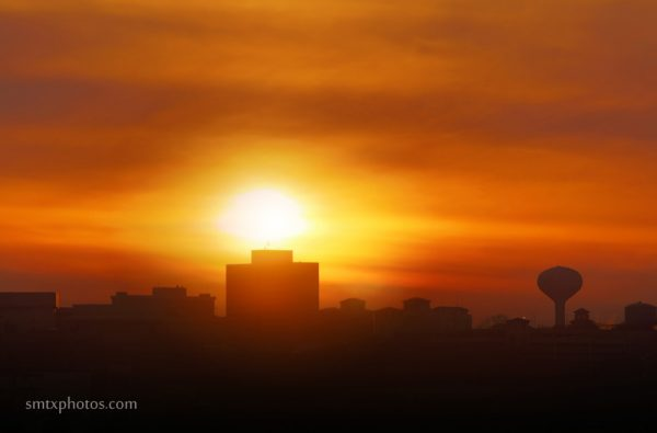 Sunset Over San Marcos and Texas State University Skyline