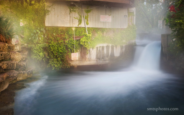 The Steamy Falls-San Marcos River in San Marcos, TX