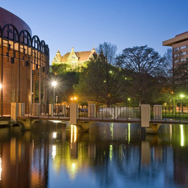 Texas State University at Night