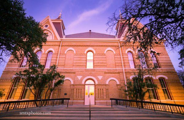 Old Main at Dusk-Texas State University-San Marcos, TX
