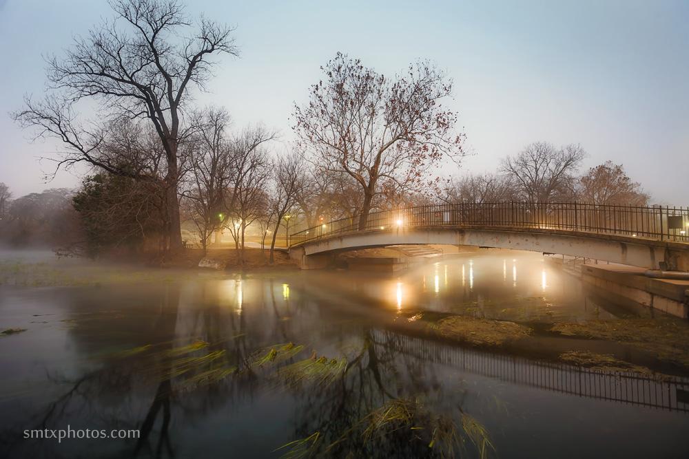Winter Stillness at Sewell Park in San Marcos, TX