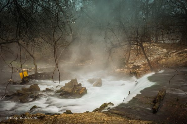 Spring Lake Falls on a Winter Morning at the San Marcos River.