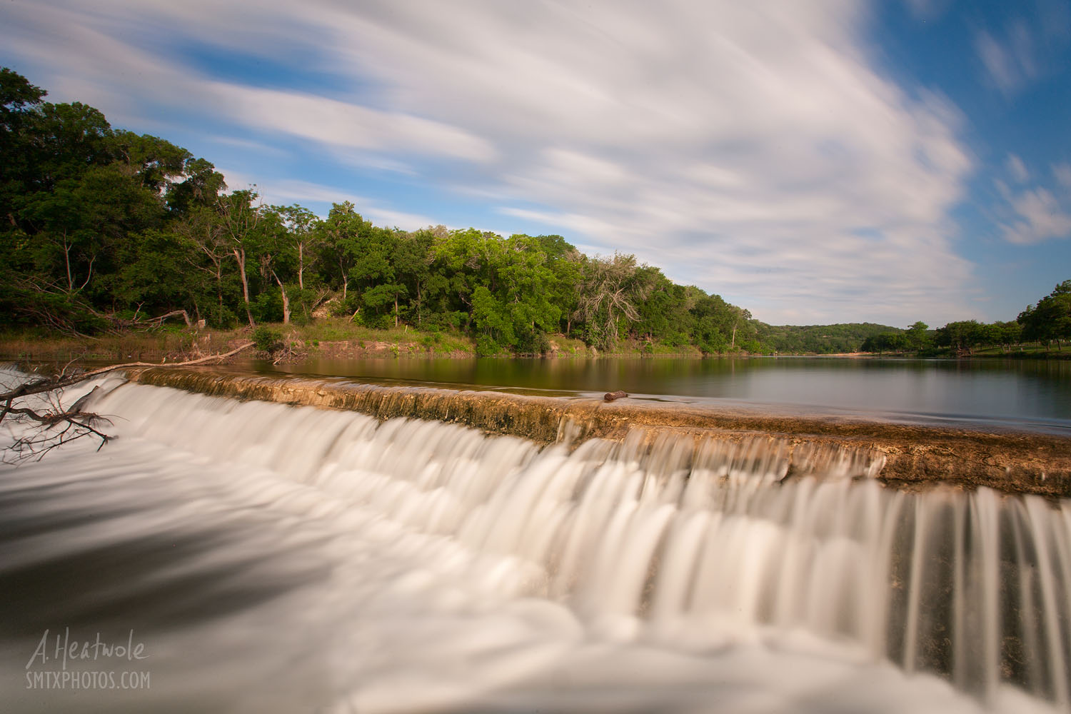 5 Mile Dam at Dudley Johnson Park in San Marcos, TX