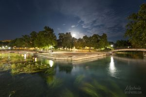 Super Moon over Sewell Park in San Marcos, TX