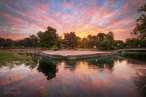 Sunrise at Sewell Park in San Marcos, TX