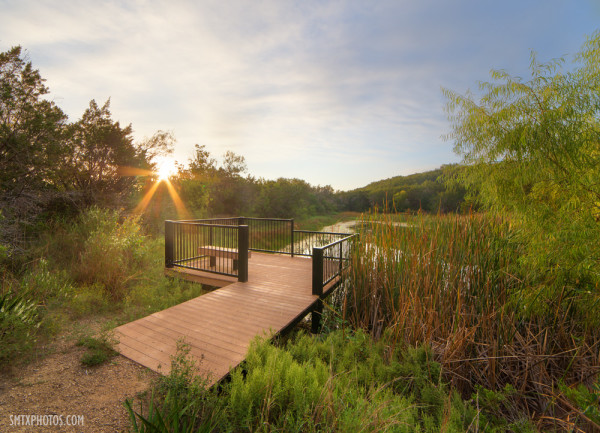Sunrise in the Spring Lake Preserve in San Marcos, TX