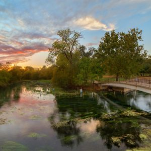 Sunset at Sewell Park in San Marcos, TX
