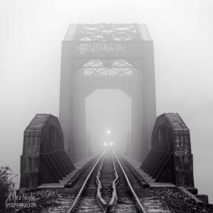 Train trestle over the Blanco River