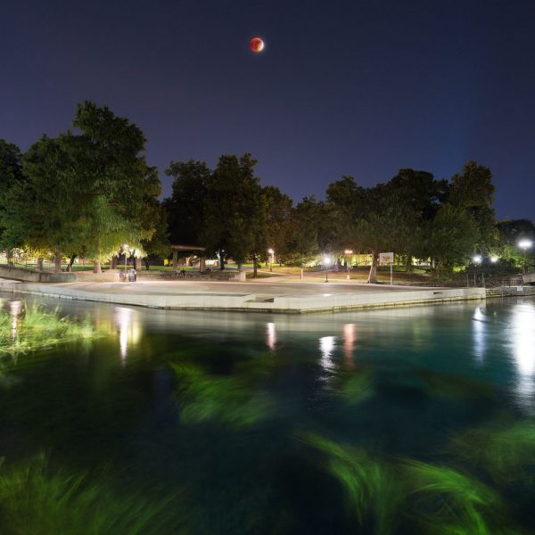 Blood Moon Eclipse Over Sewell Park