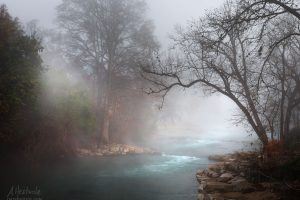 Early Morning Fog on the San Marcos River at Rio Vista