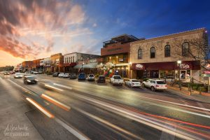 Day and Night in Downtown San Marcos