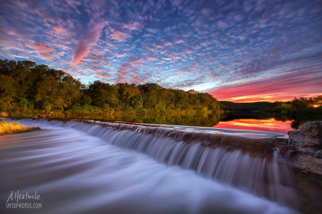 The Little Store >> Autumn Sunset at 5 Mile Dam - San Marcos Photos