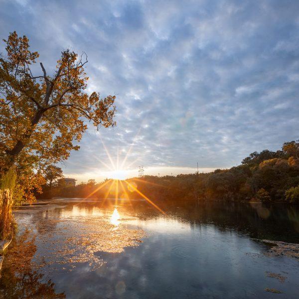 Golden sunset at Spring Lake