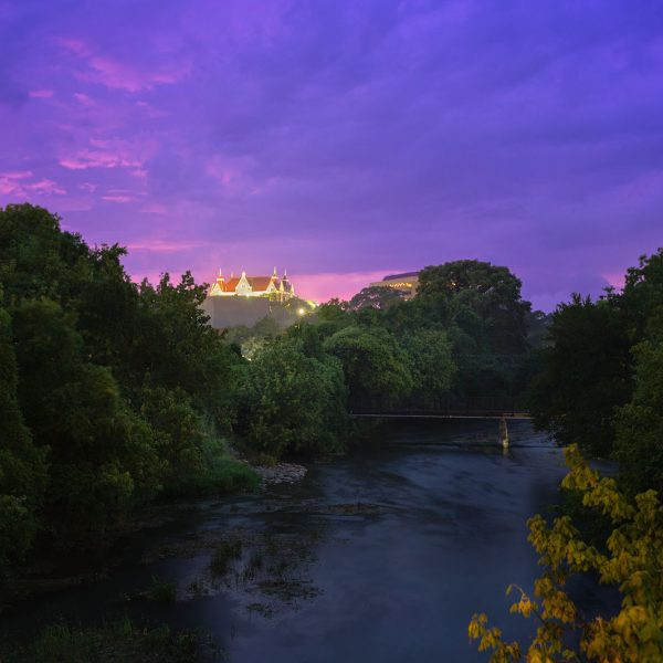 Rainy Night Afterglow On The San Marcos River