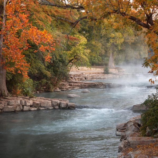 Autumn Steam on The San Marcos River
