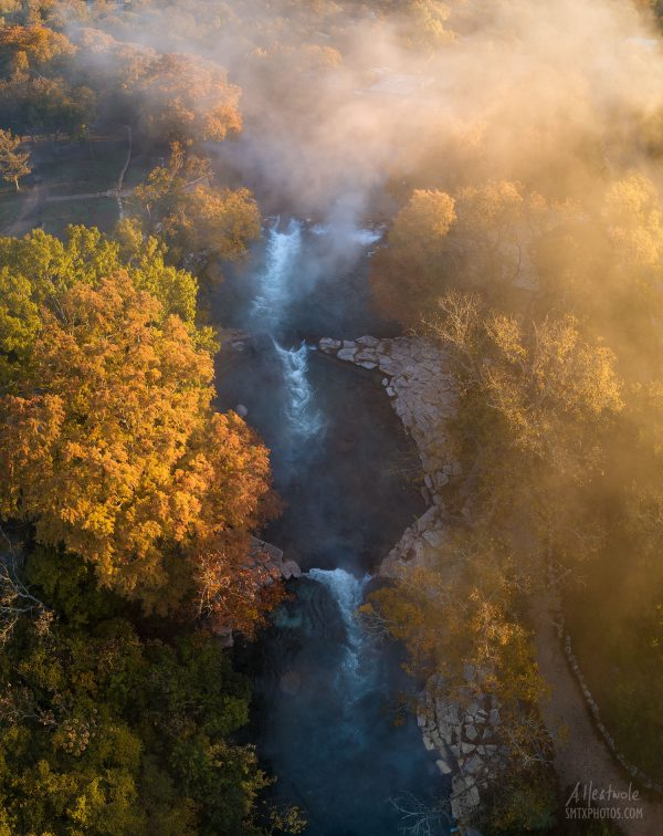 Foggy Morning Glow at Rio Vista in San Marcos, TX
