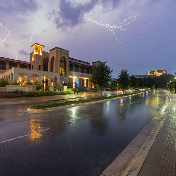 Lightning Over The Performing Arts Center